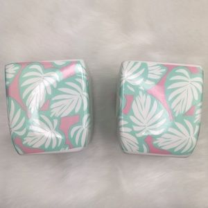 Tropic like it's Hot Pink Mint 2 Planter Pot Set